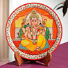 Divinely Painted Lord Ganesha Plate