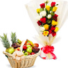 Comtemporary Mix Roses N Fruits