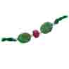 Beautiful Real Genuine Natural Emerald Rakhi SNRE2
