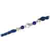 A Fine Pearl Rakhi Knotted With Blue Beads SNRP-1