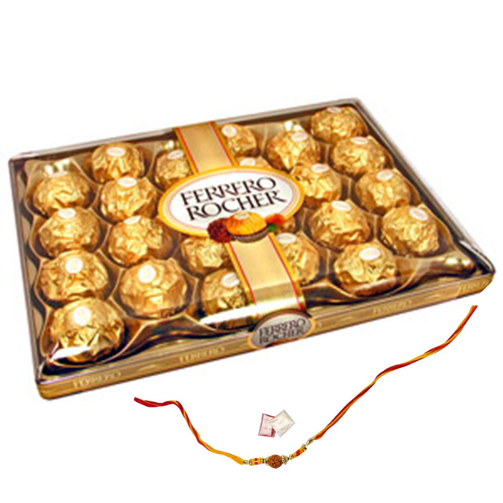 24pcs Ferrero Rocher +Rakhi Kit