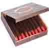 Rakhi Gifts to India, Chocolate Cigars in Wooden Box with Pearl Rakhi